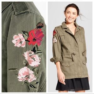 Floral Embroidered Utility Jacket by A New Day